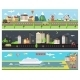 Beautiful Vector City Landscape Banners - GraphicRiver Item for Sale