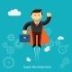 Flying Super Businessman Cartoon - GraphicRiver Item for Sale