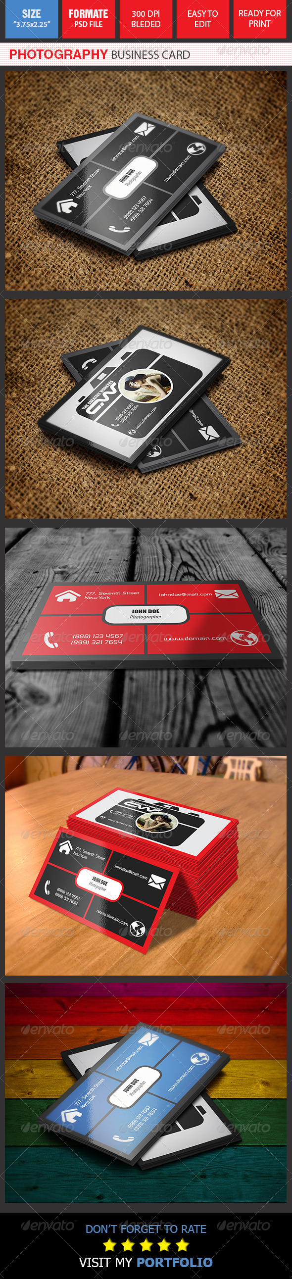 GraphicRiver Photography Business Card 8726287