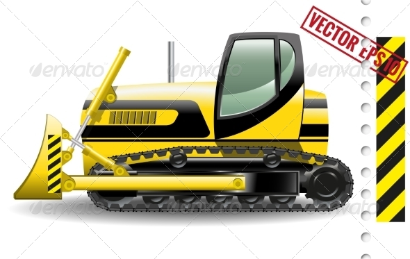 GraphicRiver Bulldozer 8726308