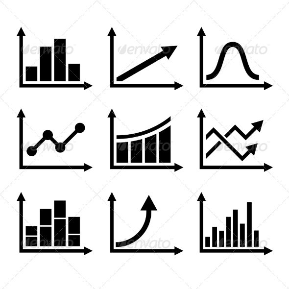 GraphicRiver Business Infographic Graph Icons Set 8726421