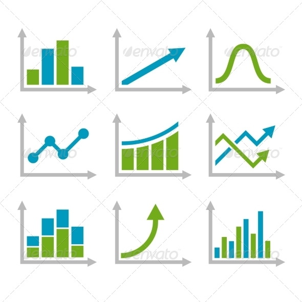 GraphicRiver Color Graph Chart Icons Set 8726493