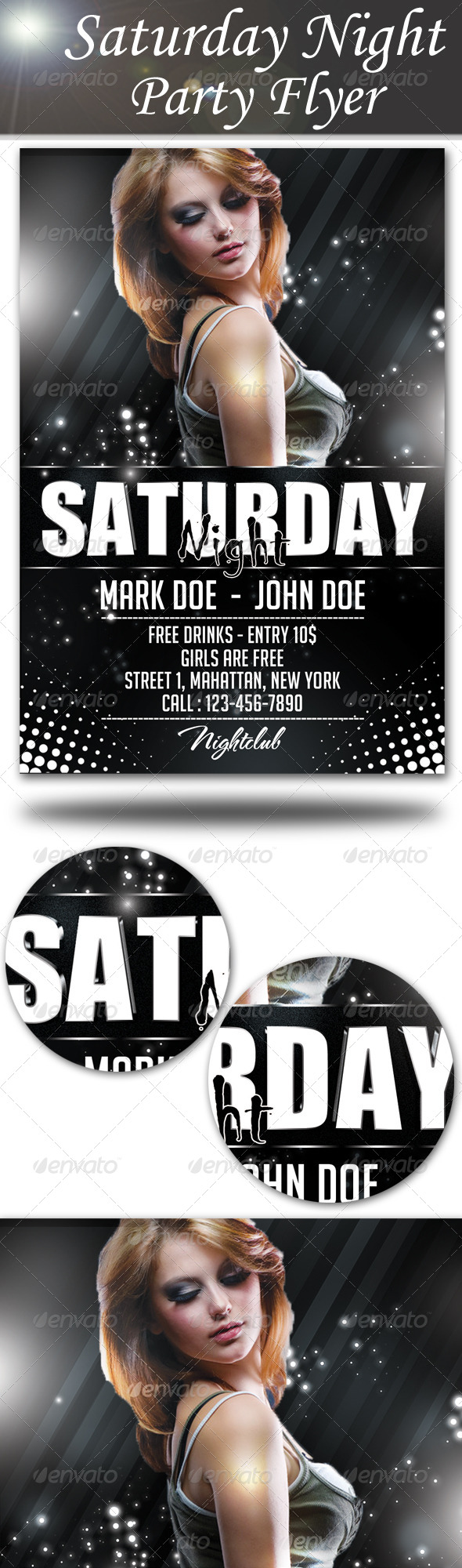 GraphicRiver Saturday Night Party Flyer 8712052