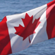 Canada Flag On Water - 76
