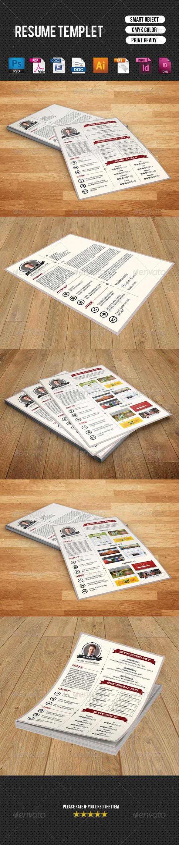 GraphicRiver Retro Vintage Resume CV V10 8680142
