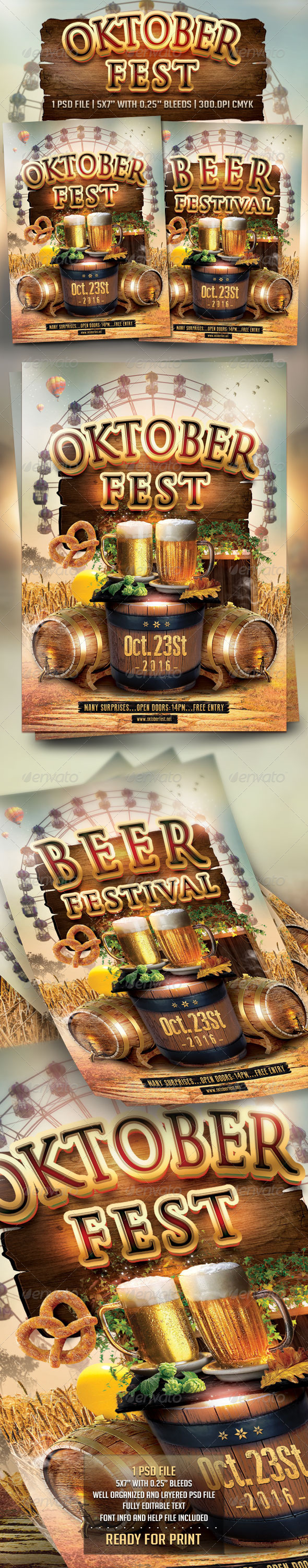 GraphicRiver Oktoberfest Flyer Template 8727118