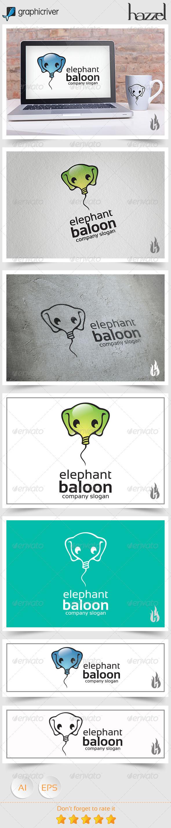 GraphicRiver Elephant Baloon Logo 8727120