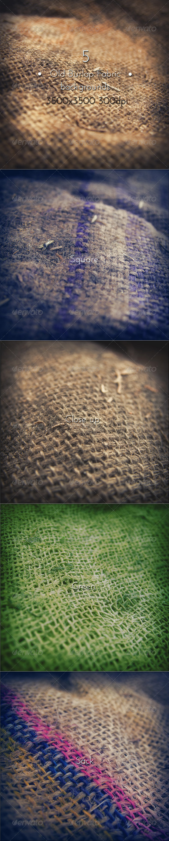 GraphicRiver Old Burlap Fabric Collection 8727484