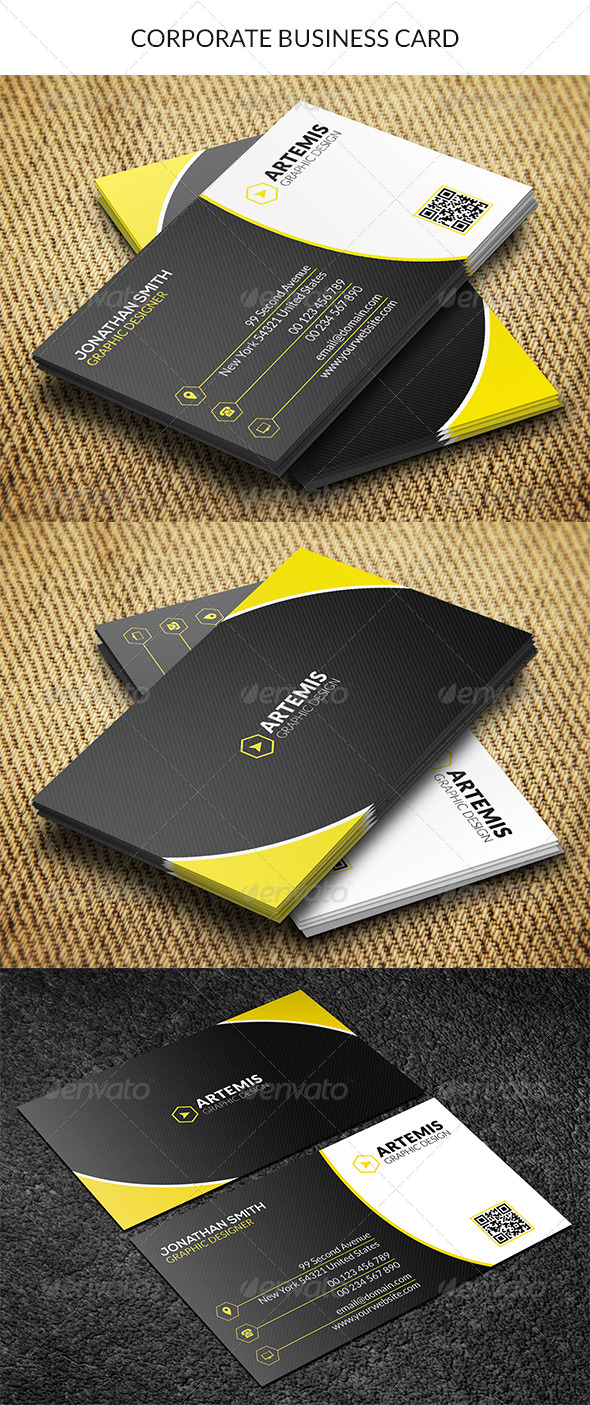 GraphicRiver Corporate Business Card 8727485