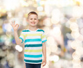little boy in casual clothes making OK gesture - PhotoDune Item for Sale