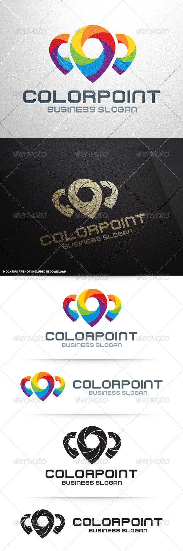 GraphicRiver Color Point Logo Template 8727503