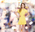 smiling little girl in yellow dress - PhotoDune Item for Sale