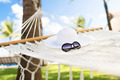 picture of hammock with white hat and sunglasses - PhotoDune Item for Sale