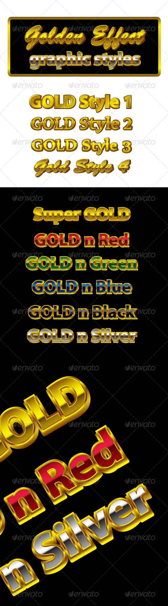GraphicRiver Golden Graphic Styles for AI 8728038