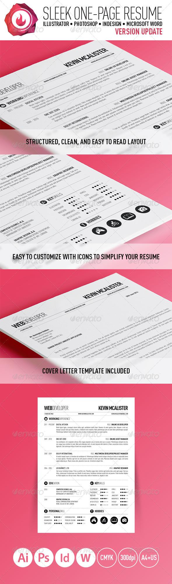 Sleek One-Page Resume