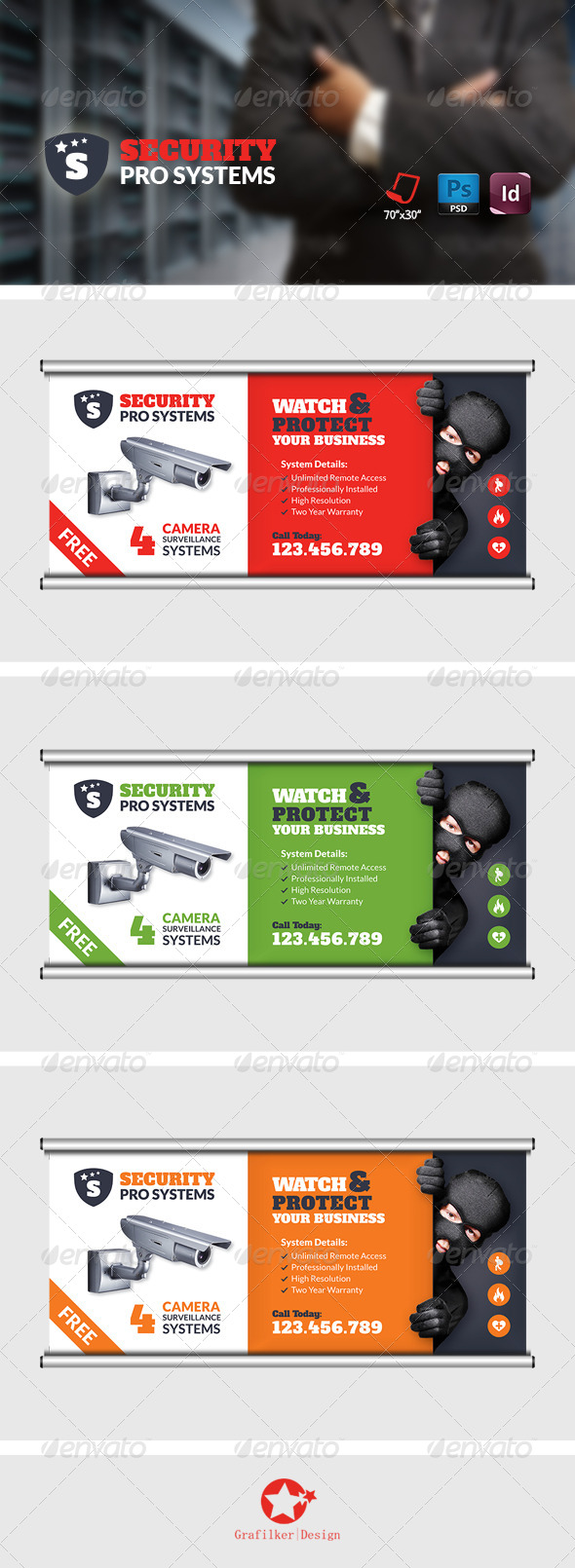 GraphicRiver Security Systems Billboard Templates 8728125
