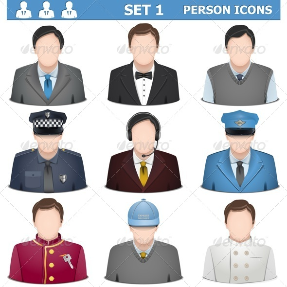 GraphicRiver Vector Person Icons Set 1 8728141