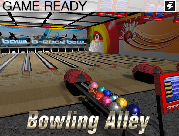 3DOcean Game Ready Bowling Alley 8728146