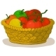 Basket with Tomatoes - GraphicRiver Item for Sale