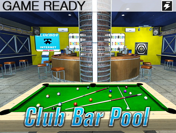 3DOcean Game Ready Pool Bar 8728634