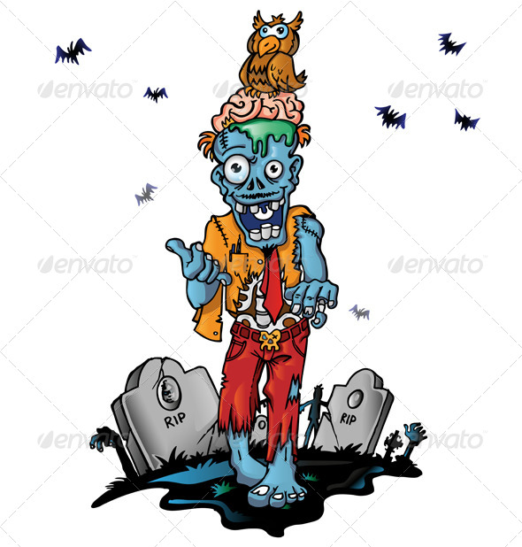 GraphicRiver Zombie Cartoon 8728818
