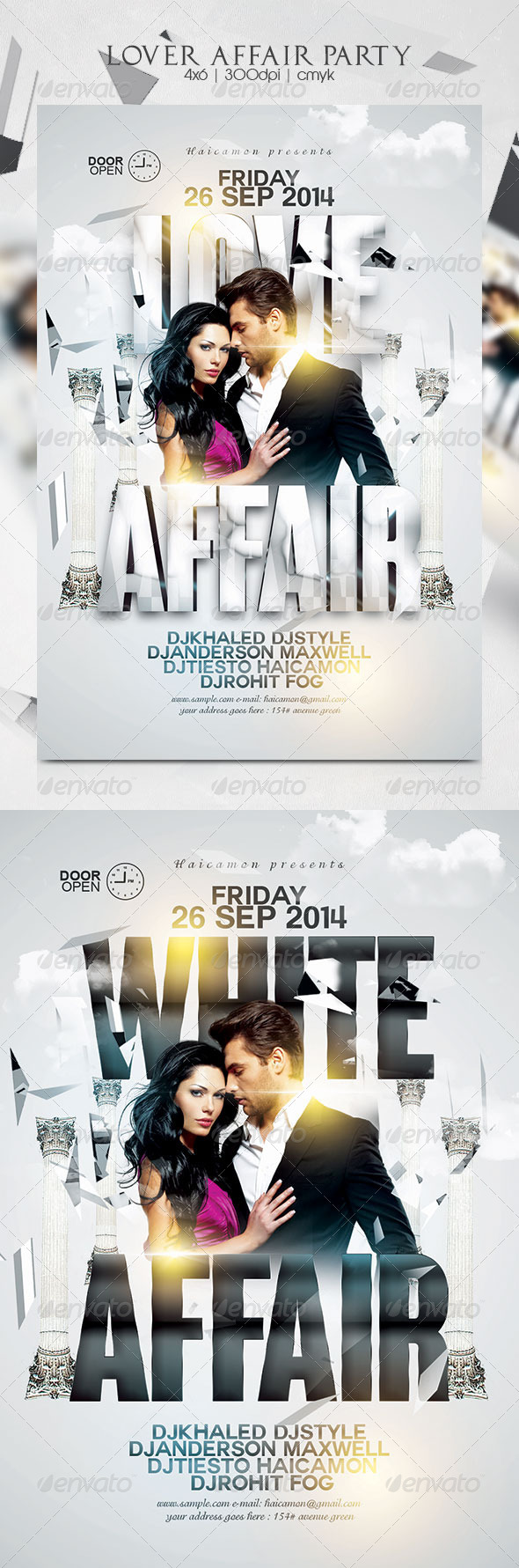 GraphicRiver Lover Affair Party Flyer 8729165