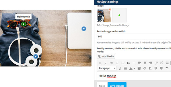 25. Visual Composer Add-on Image Hotspot with Tooltip