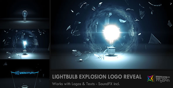 light bulb - Free After Effects Templates:Light Bulb Explosion Logo Reveal (Openers) .,Lighting