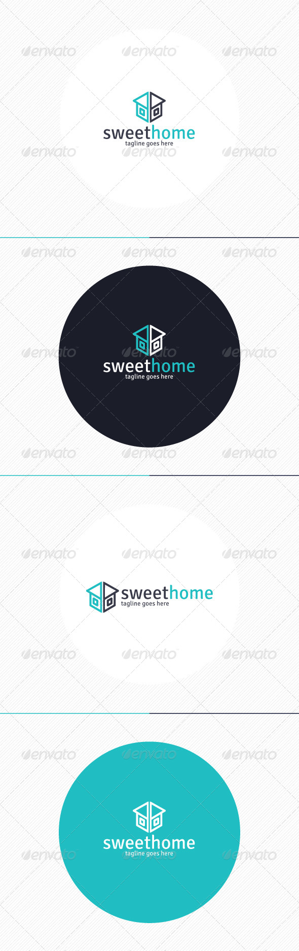 GraphicRiver Sweet Home Logo 8729249