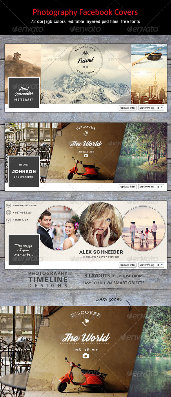 GraphicRiver Photography Facebook Covers 8729282