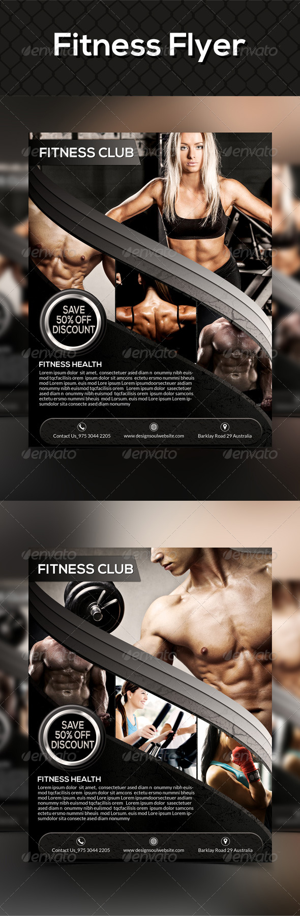 GraphicRiver Fitness Flyer Templates 8729532