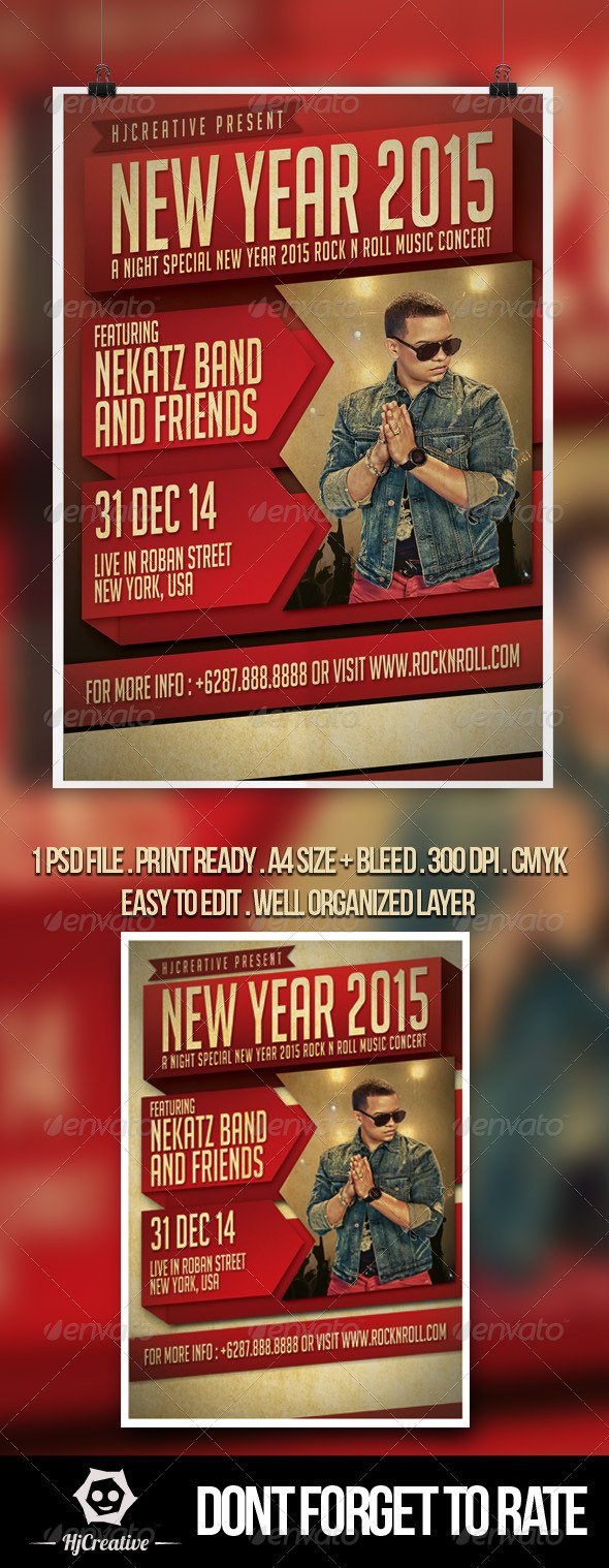 GraphicRiver New Year Poster Flyer Template V 1 8729985