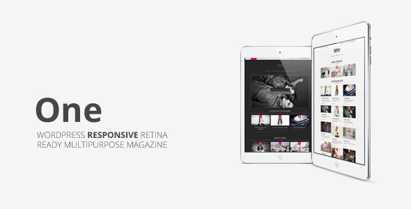 One, Multipurpose Responsive Wordpress Magazine