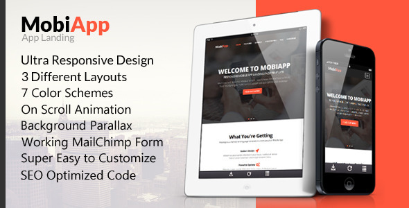 MobiApp - Responsive Mobile App Landing Page - Landing Pages Marketing
