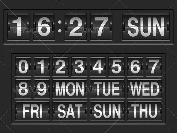 GraphicRiver Scoreboard Numbers 8730419