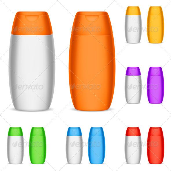 GraphicRiver Color Shampoo Bottles 8730422