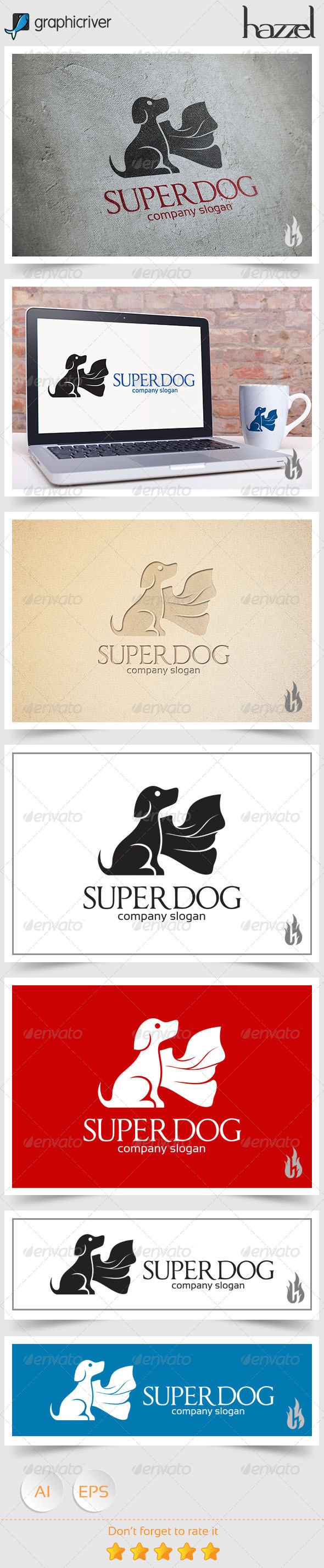 GraphicRiver Superdog Logo 8730721