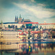 View of Charles bridge over Vltava river and Gradchany (Prague C - PhotoDune Item for Sale
