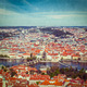 View of Charles Bridge over Vltava river and Old city from Petri - PhotoDune Item for Sale