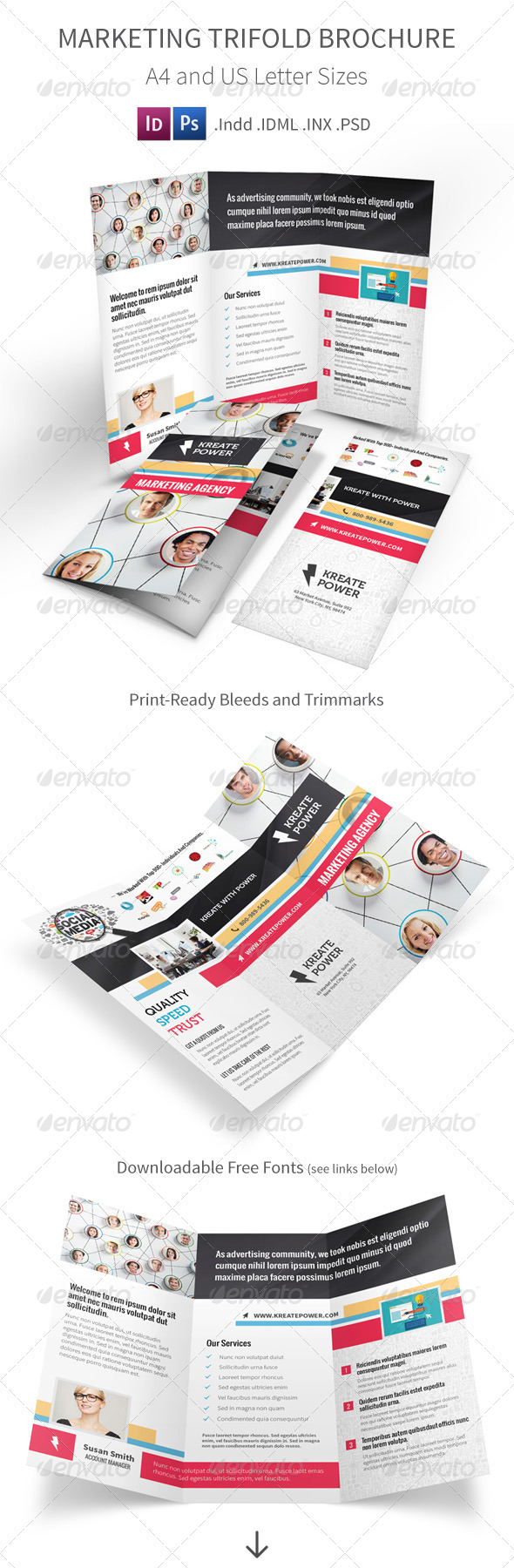 GraphicRiver Marketing and Advertising Trifold Brochure 8730761