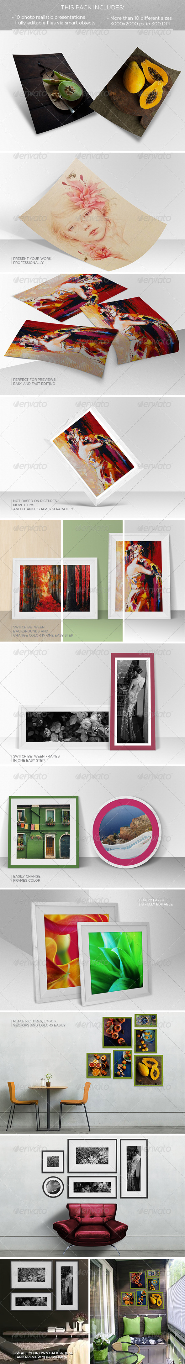 GraphicRiver Poster and Frame Mockup 8730763