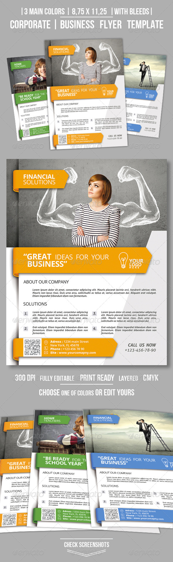 GraphicRiver Clean Corporate Business Flyer Vol.3 8730766