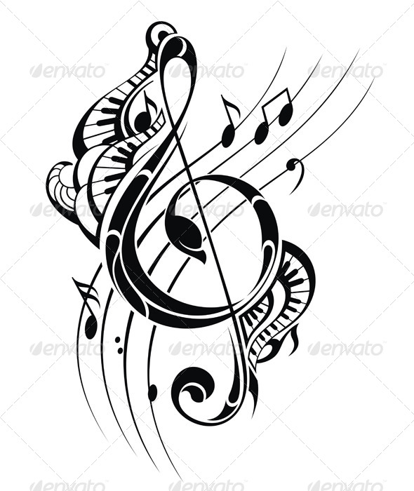 GraphicRiver Music Note Background 8730877