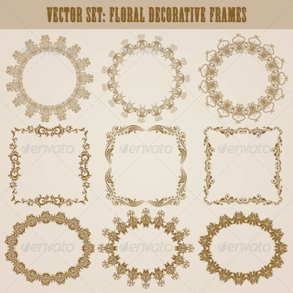 GraphicRiver Decorative Frames 8731391