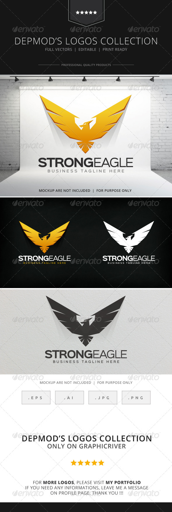GraphicRiver Strong Eagle Logo 8731500
