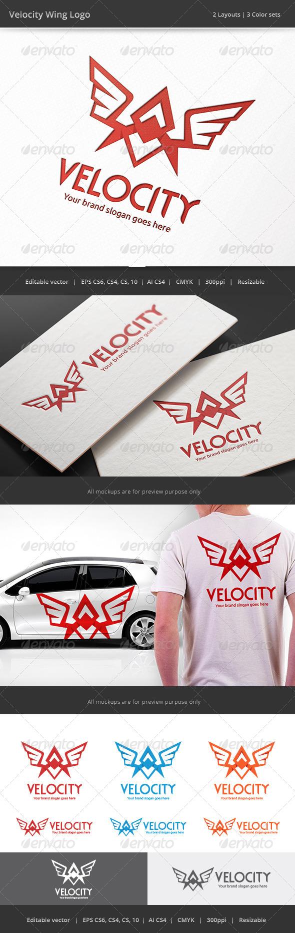 GraphicRiver Velocity Wing Logo 8731527