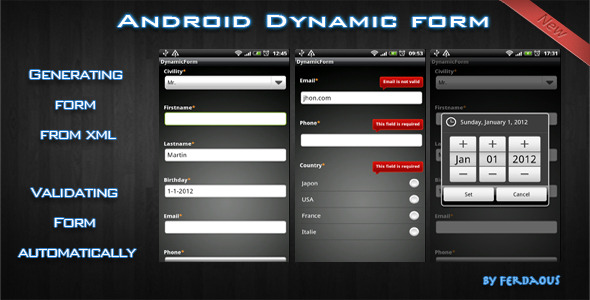 CodeCanyon Android Dynamic Form 858361