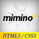 Mimino – Minimalist HTML5 Portfolio Template  Free Download