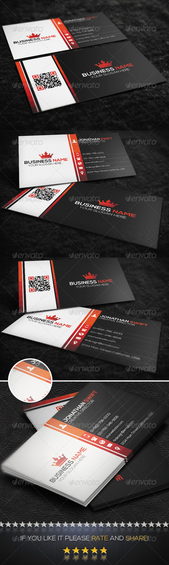 GraphicRiver Corporate Business Card 8731826