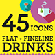 45 Drinks Icons